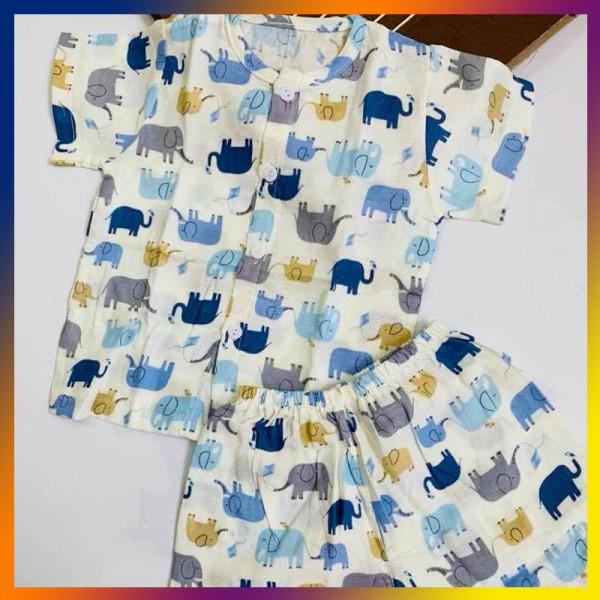 Quần áo trẻ em TÍT MÍT BABYXO bộ ngắn size XL