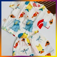 Quần áo trẻ em TÍT MÍT BABYXO bộ ngắn size XXL