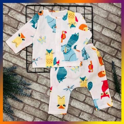 Quần áo trẻ em TÍT MÍT BABYXO bộ dài size M