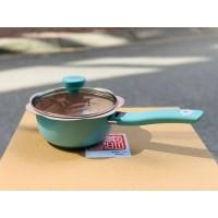 Bộ nồi chảo chống dính baby TETSU PLUS Nhật 16cm- Màu xanh