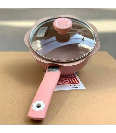Bộ nồi chảo chống dính baby TETSU PLUS Nhật 16cm- Màu Hồng