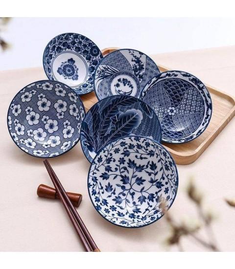 Set 6 bát sứ hoa văn Nhật