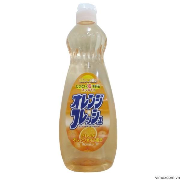 Chai nước rửa bát chén hương cam Rocket 600ml