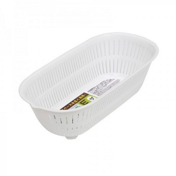 Rổ nhựa hình ovan 1.5L màu trắng