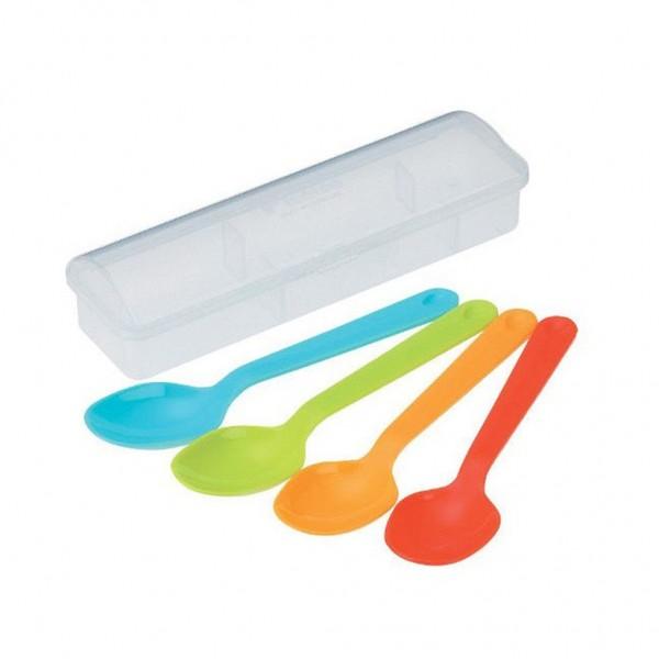 Bộ 4 thìa nhựa màu sắc kèm hộp
