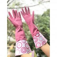 Găng tay rửa bát dáng dài màu hồng size M