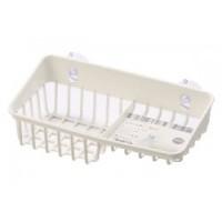 Giá để giẻ rửa bát 2 ngăn dạng lưới màu trắng Inomata
