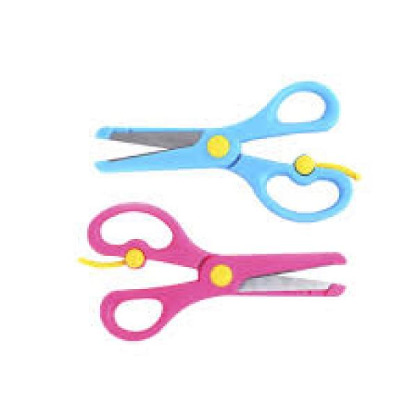 Kéo tập cắt thủ công cho trẻ nhỏ màu vàng, hồng