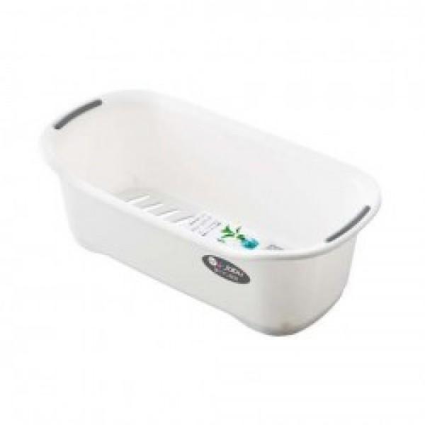 Khay đựng đồ dùng nhà tắm Jabu (màu trắng)