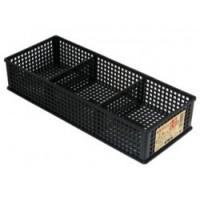 Khay đựng vật dụng chia ngăn dạng lưới màu đen