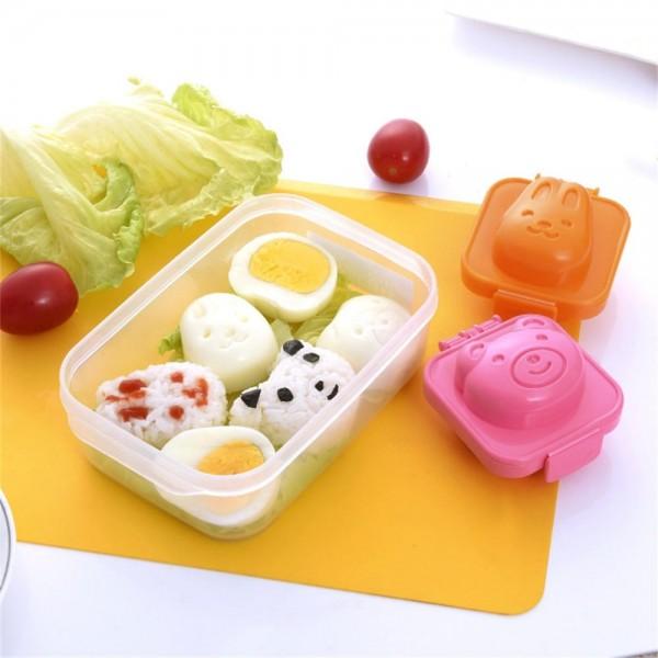 Khuôn tạo hình cơm, trứng hình gấu và thỏ