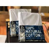 Set 2 áo lót nam 100% cotton kháng khuẩn - mẫu cổ tim size LL