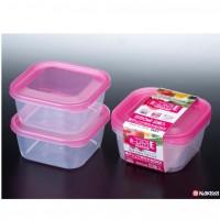 Set 2 hộp nhựa 750ml màu hồng