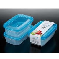 Set 2 hộp nhựa 800ml màu xanh