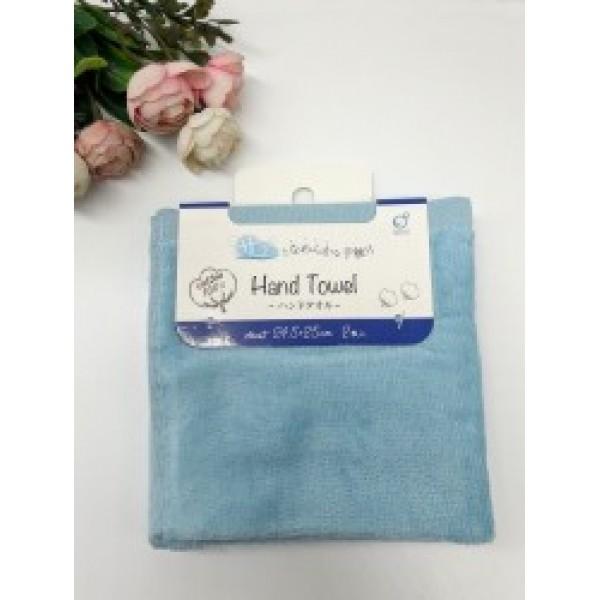 Set 2 khăn mặt mềm mịn cho bé 100% cotton (màu xanh)