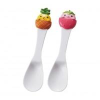 Set 2 thìa ăn kem, sữa chua hình trái cây