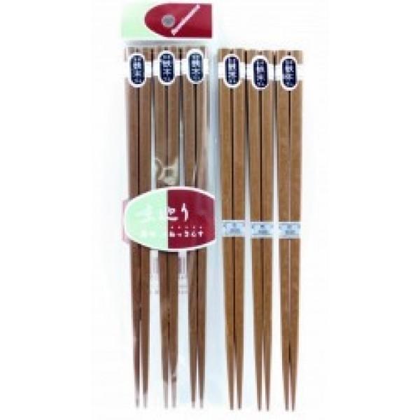 Set 3 đôi đũa gỗ 22,5cm (loại dày)