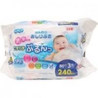 Set 3 gói 80 tờ giấy ướt cho bé (mã mới)