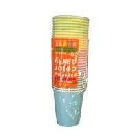 Set 30 cốc giấy màu sắc dung tích 205ml