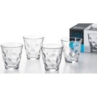 Set 4 cốc thủy tinh 240ml họa tiết tròn