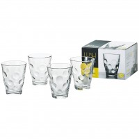 Set 4 cốc thủy tinh 315 ml họa tiết tròn