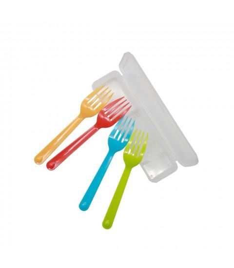 Set 4 dĩa nhựa màu sắc kèm hộp
