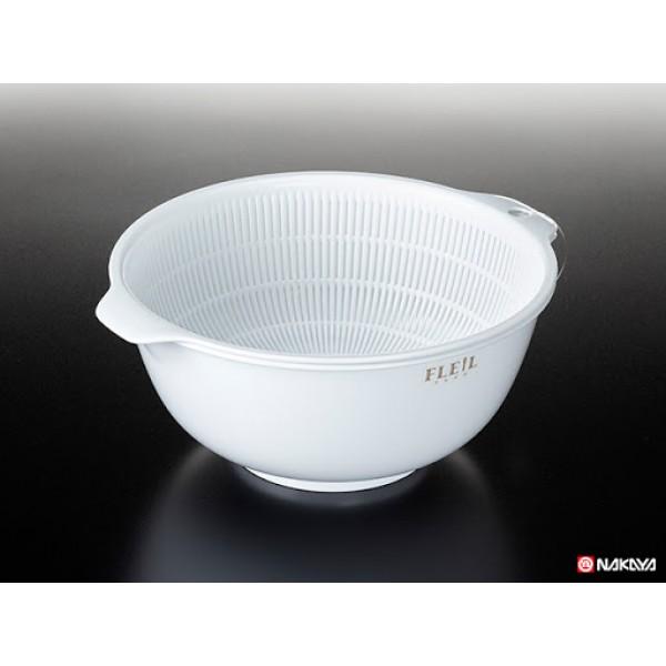 Set chậu, rổ Nakaya 1,5L màu trắng