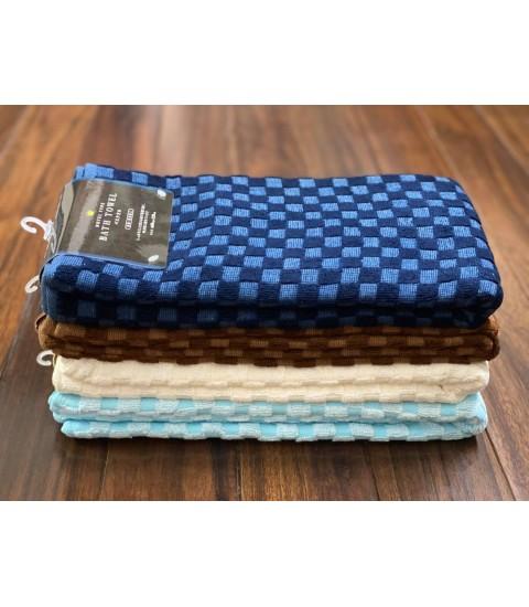 Set 2 khăn mặt/khăn gội Olympic 100% Cotton siêu thấm hút (Size 34*80cm)