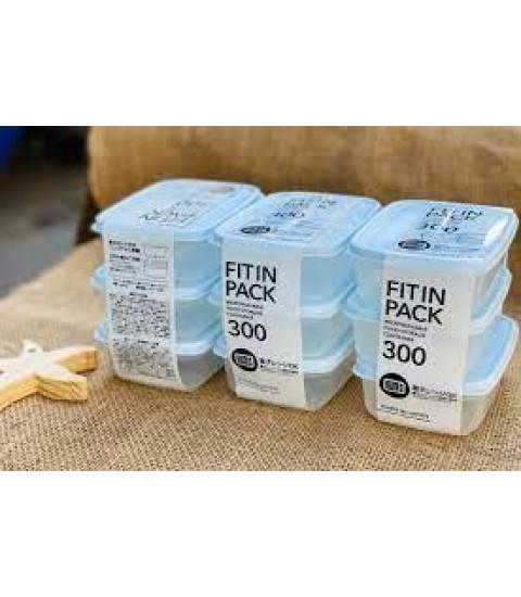 Set 3 hộp nhựa nắp dẻo 300ml (màu xanh Mint)