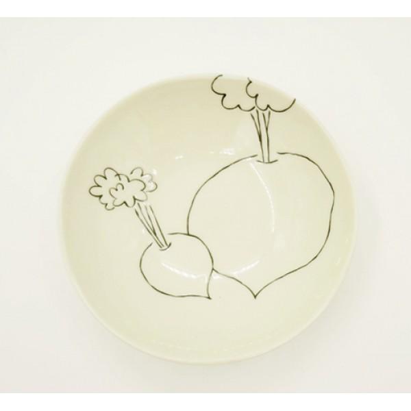 Đĩa ceramic họa tiết rau củ
