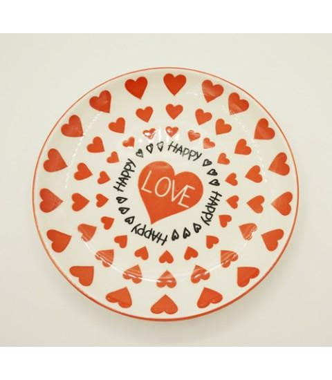 Đĩa sứ Porcelain cao cấp hình trái tim
