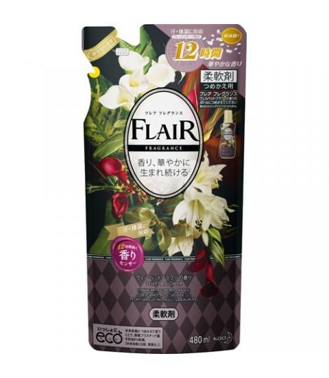 Gói nước xả mềm vải Flair KAO hương thơm mềm mại 480ml