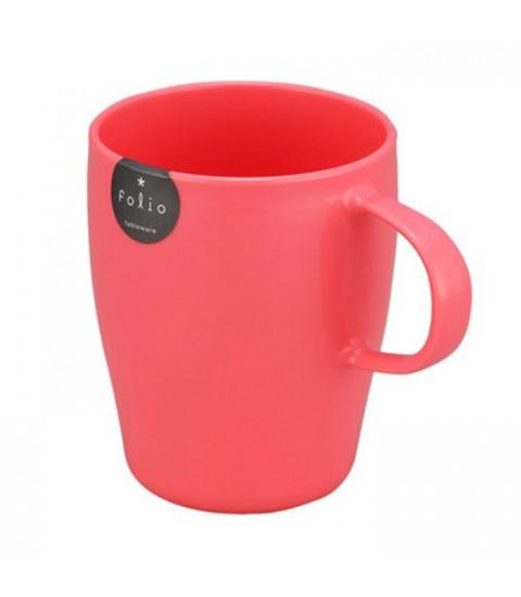 Cốc uống nước 340ml có tay cầm Folio - màu hồng