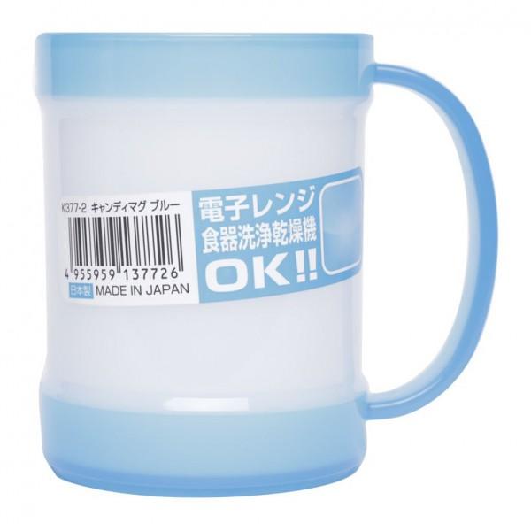 Cốc uống nước có tay cầm 300ml Nakaya - màu xanh