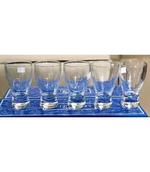 Bộ 5 ly thủy tinh sake Sakazuki