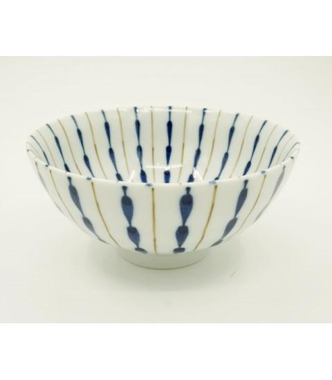 Bát ceramic tráng men cao cấp họa tiết dệt lá cây hai mặt