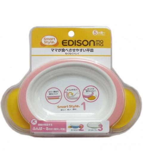 Bát tập ăn cho bé Edison màu hồng
