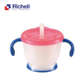Cốc tập uống 3 giai đoạn Richell tay xanh - RC41011