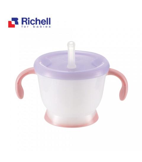 Cốc tập uống 3 giai đoạn Richell tay hồng - RC41012