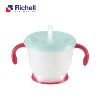 Cốc tập uống 3 giai đoạn Richell tay đỏ - RC41013