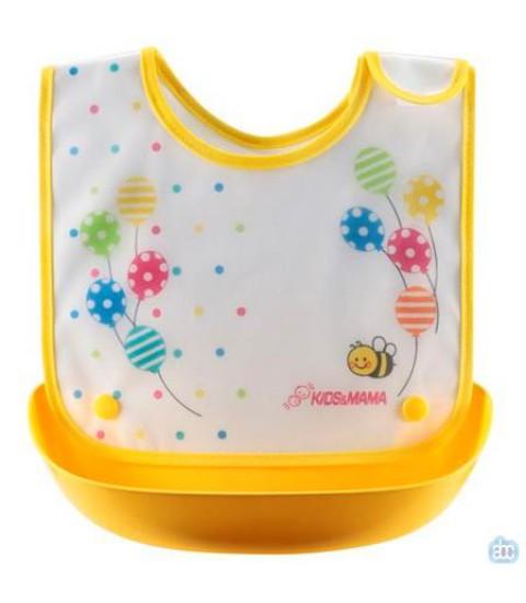 Yếm ăn dặm Kids & Mama - Màu vàng
