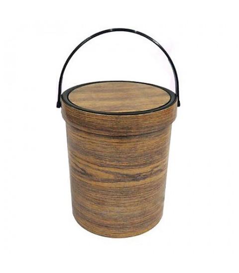 Bật rác tròn vân gỗ nhựa Song Long