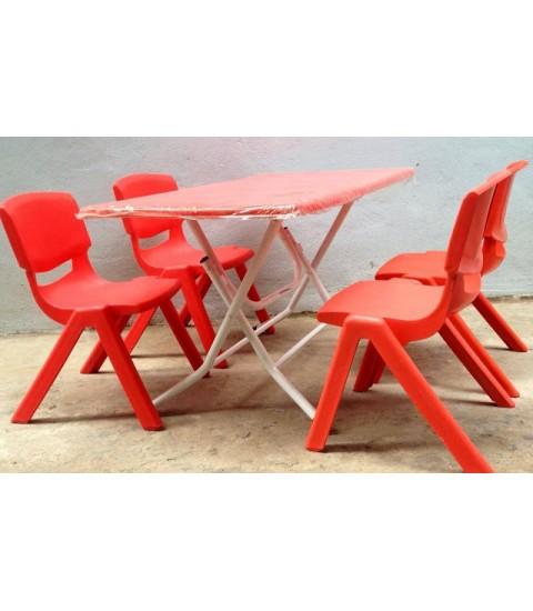Bộ bàn gấp và ghế nhựa trẻ em mầm non Song Long 1 bàn 4 ghế