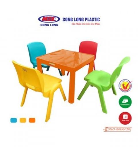 Bộ bàn ghế trẻ em mầm non 1 bàn 4 ghế
