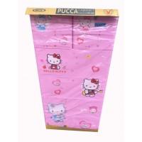 Tủ nhựa hoạt hình Song Long 5 tầng 6 ngăn - Hình Kitty màu hồng