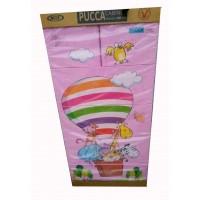 Tủ nhựa hoạt hình Song Long 5 tầng 6 ngăn - Hình khí cầu màu hồng