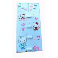 Tủ nhựa hoạt hình Song Long 5 tầng 6 ngăn - Hình Kitty màu xanh dương